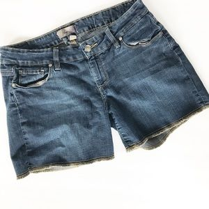 Paige Premium Denim stitched hem denim shorts